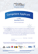 EESS Competent Applicant Certificate